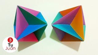 Octaedro de Papel - Origami Modular | JuanTu3