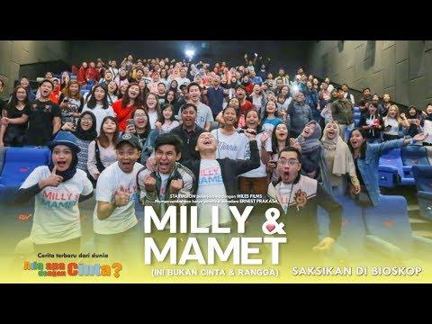 Cover Lagu MILLY & MAMET (Ini Bukan Cinta & Rangga) - Nobar Di Lombok & Media Visit STAFABAND