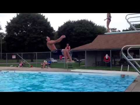 Funny videos swimming pool diving board tricks youtube music lyrics for Swimming pool diving board tricks