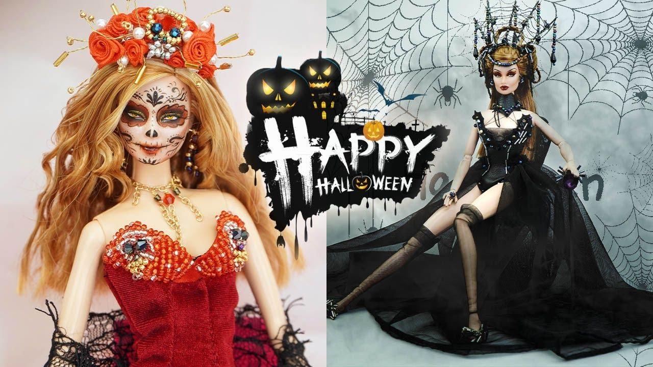 DIY Barbie Halloween Costumes - Vintage Doll ✞ Halloween Makeup