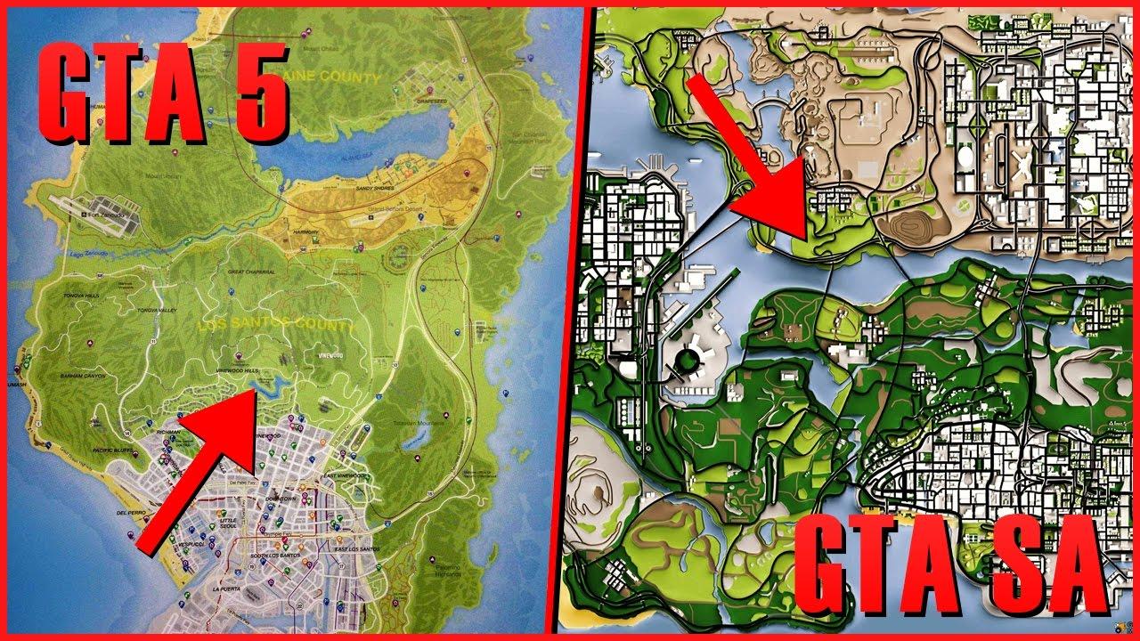 Gta San Andreas или Gta 5 где быстрее проехать карту