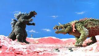 GODZILLA Vs. LIZZIE - Full Battle [HD]