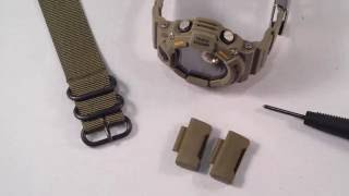 How To Use Zulu or NATO strap on Casio GShock Rangeman 9400 with JaysAndKays Adapters #jaysandkays