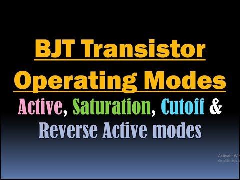 BJT Transistor Operation Modes/Active, Saturation, Cutoff and Reverse Active modes of BJT Transistor