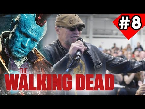 Michael Rooker aka Yondu Udonta Jumps off stage Q & A The Walking Dead Con London 2018 Vlog End 8