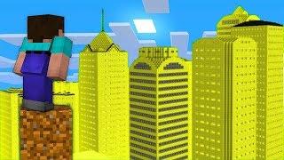 НУБ НАШЕЛ ГОРОД из ЗОЛОТА В Майнкрафте! Minecraft Мультики Майнкрафт троллинг Нуб и Про