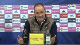 Rueda de prensa de Víctor Fernández tras el Real Zaragoza (2-0) Real Sporting