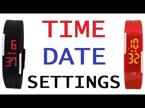 Easy To Set China Digital Led Band Watch Time & Date Settings