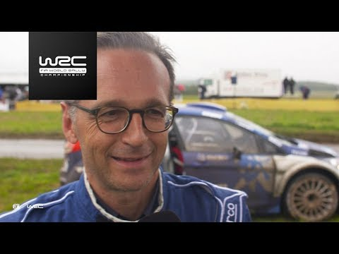 WRC - ADAC Rallye Deutschland 2017: Co-Drive Heiko Maas (Minister of Justice, Germany)