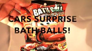 CARS BATH BALLS Surprise Egg Opening! DISNEY PIXAR CARS CARS 2 SURPRISE EGG