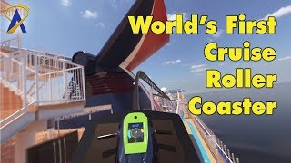 World's First Roller Coaster on a Cruise Ship - Carnival Mardi Gras
