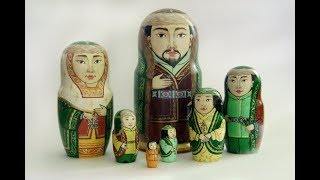 Матрешки в саукеле. Алматинка создает казахских красавиц из русских сувениров Video