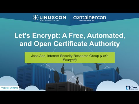 Let's Encrypt: A Free, Automated, and Open Certificate Authority by Josh Aas