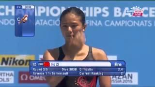 FINA WC 2013 Women 1m Final - He Zi