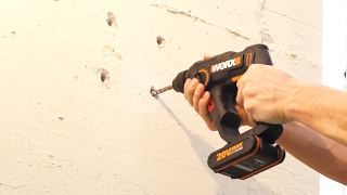 WORX WX390 Litium-Ion 3 i 1 roterende hammer - Norsk - www.worx.com
