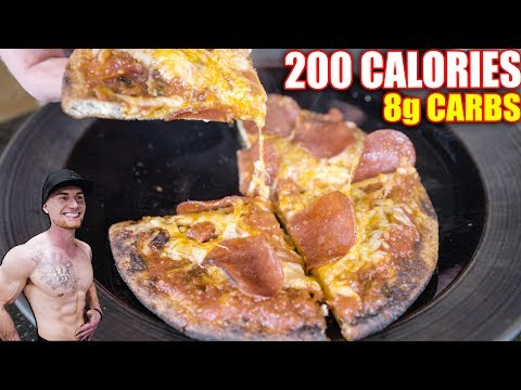Keto Low-Carb Pizza Recipe | The 200 Calorie Pizza
