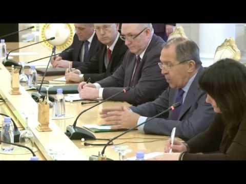 С.В.Лавров и Министр иностранных дел Буркина-Фасо А.Барри