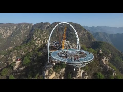 Worlds Longest Cantilever Viewing Platform To Open On May Day In - China opens worlds longest skywalk