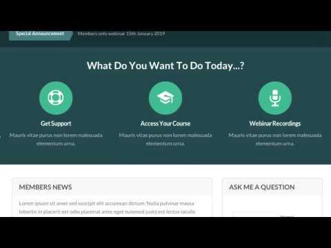 OptimizePress Club: Club - Membership Site Home Page Template