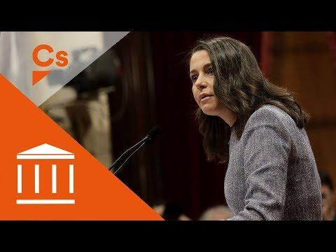 Inés Arrimadas. Intervención en el Pleno del Parlament de Catalunya thumbnail