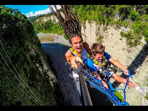 World's Fastest Zipline! Gravity Canyon in 4K!   DEVINSUPERTRAMP