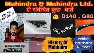 51) Everything Related to Mahindra & Mahindra ~ Hindi    Xuv, Tuv, Kuv, D140, G80, mhawk, Meaning ?