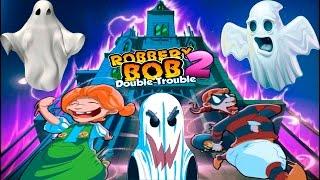 вОРИШКА БОБ 2 #41 Город с ПРИВИДЕНИЯМИ! Детское видео Игровой мультик Robbery Bob Let's play