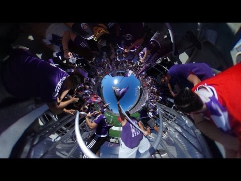 360 video: Orlando City supporters chant during game