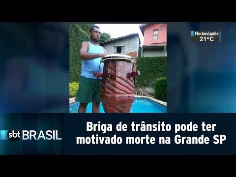 Briga de trânsito pode ter motivado morte de homem na Grande SP | SBT Brasil (20/07/18)
