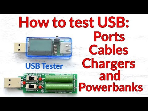 How to test USB Ports, USB Chargers, USB Cables and Powerban