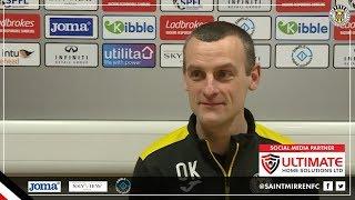 Oran Kearney looks ahead to St Mirren's match against Kilmarnock
