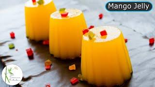 Vegetarian Mango Jelly Recipe  How to Make Mango Jelly at Home  Mango Delight S1 E8