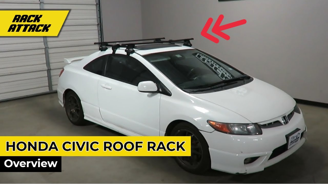 2006-2012 Honda Civic Coupe with Thule Traverse SquareBar ...