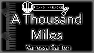 """Piano karaoke instrumental for """"a thousand miles"""" by vanessa carlton you can now say thank and buy me a coffee! ☕️it will allow to keep bringing t..."""