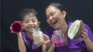 Smoothie Challenge Indonesia - durian,telor kampung dan saus sambal