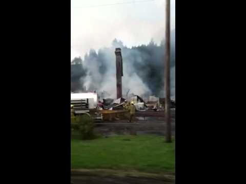 Cascadia school a post office burned down
