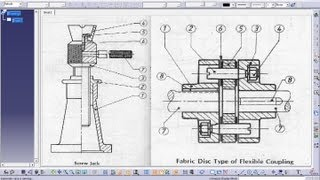 Catia V5 Tutorial intoduction Drafting Workbench individual Vw offset Section View(iso & 3rd Angle)