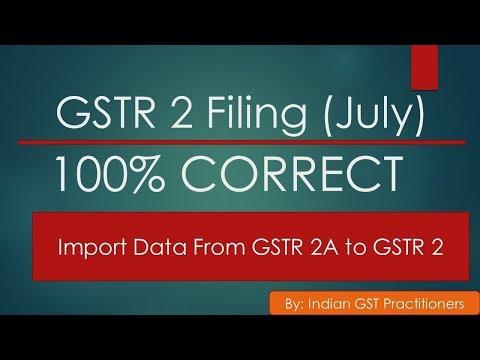 GSTR 2 Live 100% Correct