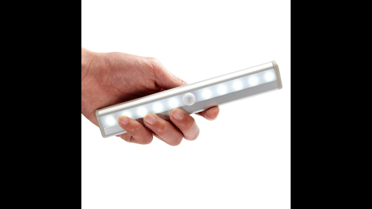 product review cooo stickon 10 led pir wireless motion sensor light youtube