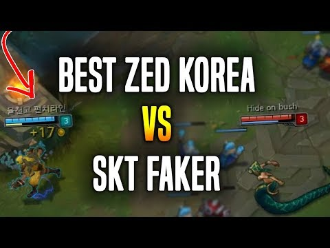 When Best Zed Korea Plays vs Faker! - Korean Master Zed Main OTP with +500Games! | Korean Masters