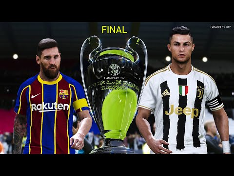 Pes 2020 Uefa Champions League Final Juventus Vs Barcelona New Kits 2020 21 Penalty Shootout Youtube