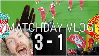 SHAQIRI SMASHES THE MANCS! LIVERPOOL 3-1 MAN UNITED | MATCHDAY VLOG