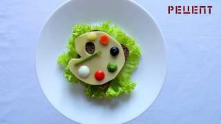 Рецепт бутерброда Палитра - бутерброды на праздник