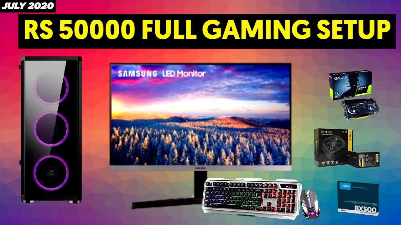 Rs 50000 Gaming PC Build 2020 [HINDI] |  Full Gaming Setup under 50k with Monitor and Keyboard Mouse