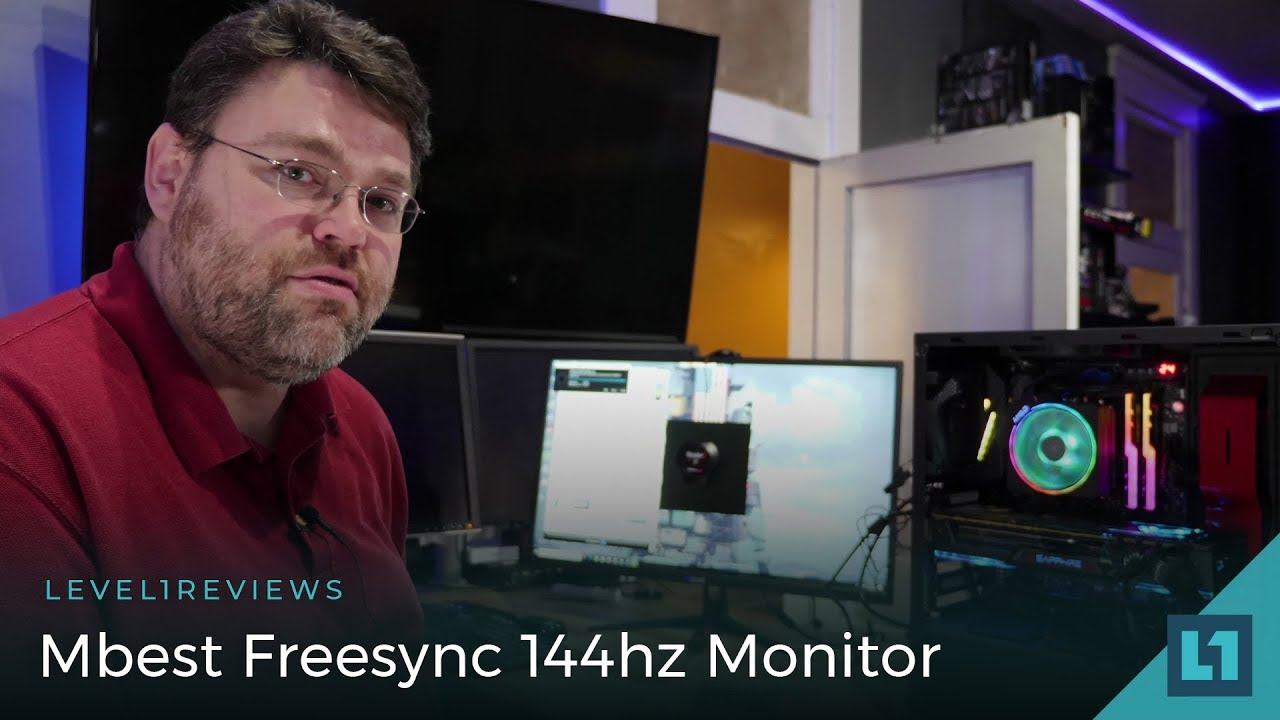 Mbest Freesync 144hz Gaming Monitor Review : LightTube