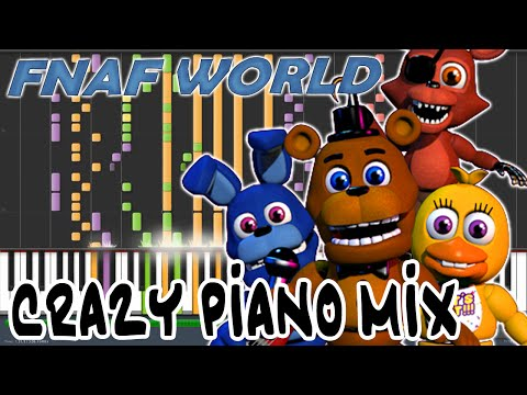 Crazy Piano Mix! Melting Titanium (FNAF WORLD) Boss Theme