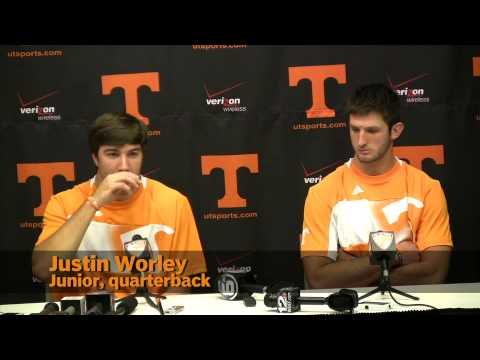 Orange and White quarterbacks: Justin Worley and Nathan Peterman