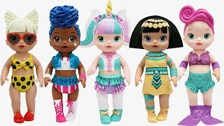 Play Doh NEW LOL Surprise Doll Series 3  Outfits  Unicorn Pharaoh Babe Waves Baby Alive Doll
