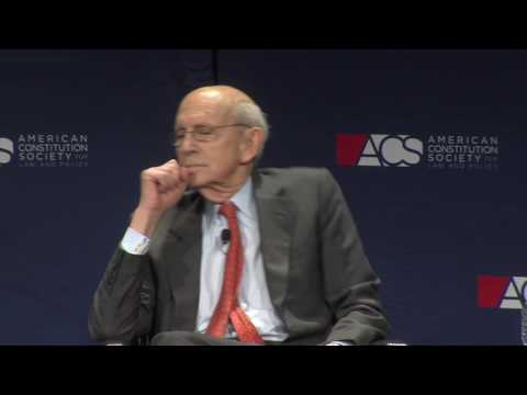 U.S. Supreme Court Justice Stephen Breyer in Conversation with Associate Dean Alan Morrison
