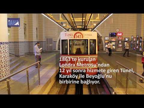 Tarihi Beyoğlu-Karaköy Tüneli (İAHA)